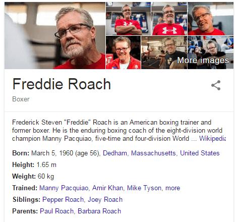 Freddie Roach Lebedev Denis Boxer