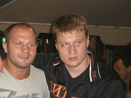 Povetkin with Fedor Emelianenko